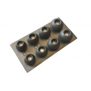 Soundmag амбушюры силиконовые с металлической сеточкой, набор 5 пар (S/M/L)