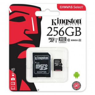 Kingston 256GB microSDXC C10 UHS-I R80MB/s