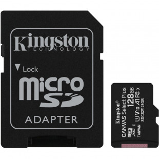 Kingston 128GB microSDXC C10 UHS-I R100MB/s Canvas Select Plus + SD